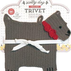 Now Designs Crochet Trivet - Scotty Dog NWT